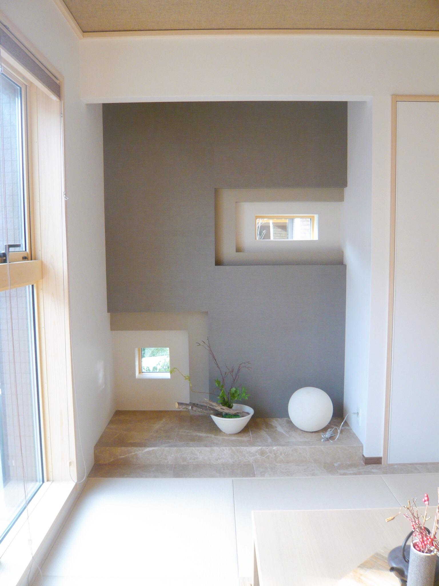 壁と窓を上手く使ったデザイン床の間